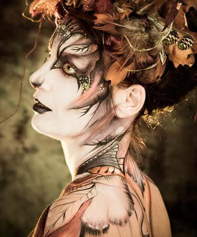 maquillages de body-painting