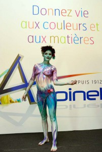Body-painting promotionnel